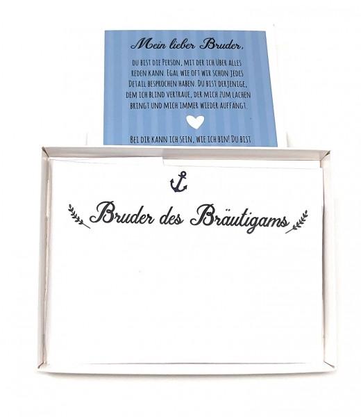 """Hochzeit Taschentuch für Freudentränen """"Bruder der Braut"""" Stofftaschentuch"""