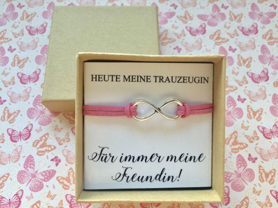 Geschenk Trauzeugin - Armband