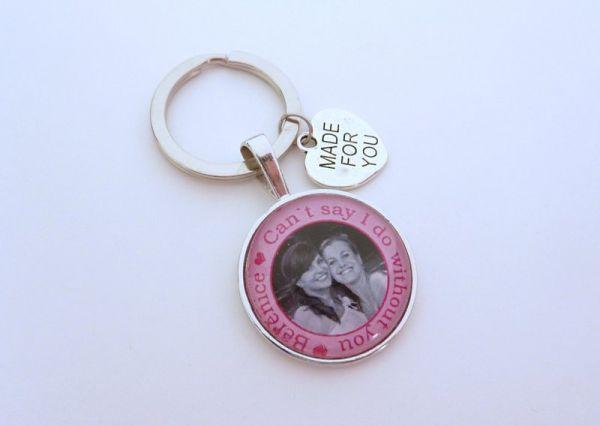 Geschenk Trauzeugin zur Hochzeit, Weltbeste Trauzeugin, personalisierter Schlüsselanhänger für die T