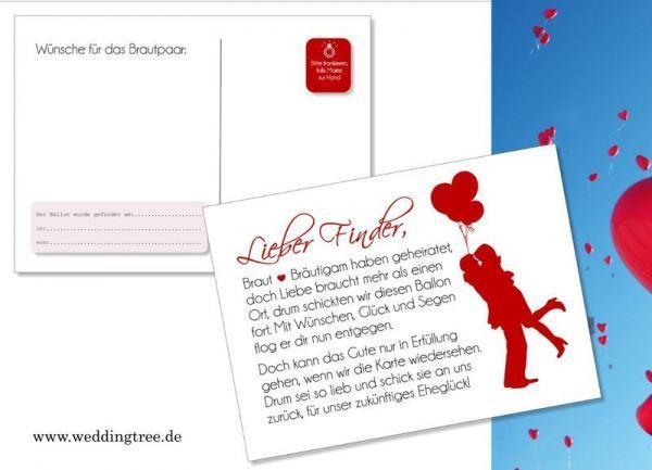 50 Ballonflugkarten zur Hochzeit