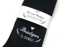 """Hochzeit Geschenk Socken """"Gegen kalte Füße"""" für den Bräutigam"""