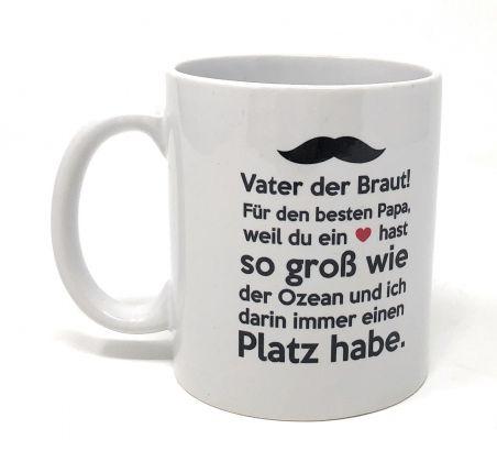 Geschenk Brautvater Tasse - Weltbeste Brautvater!