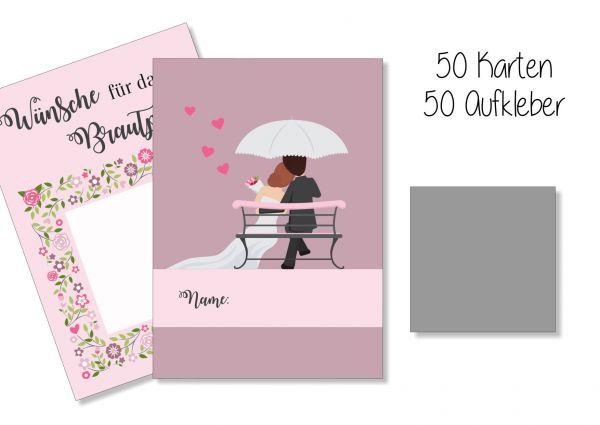 Hochzeitsspiel | Rubbelkarten | Wünsche an das Brautpaar