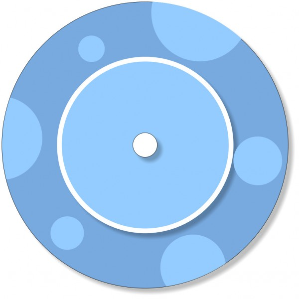 Ladestationsticker passend für die Toniebox - Blaue Punkte