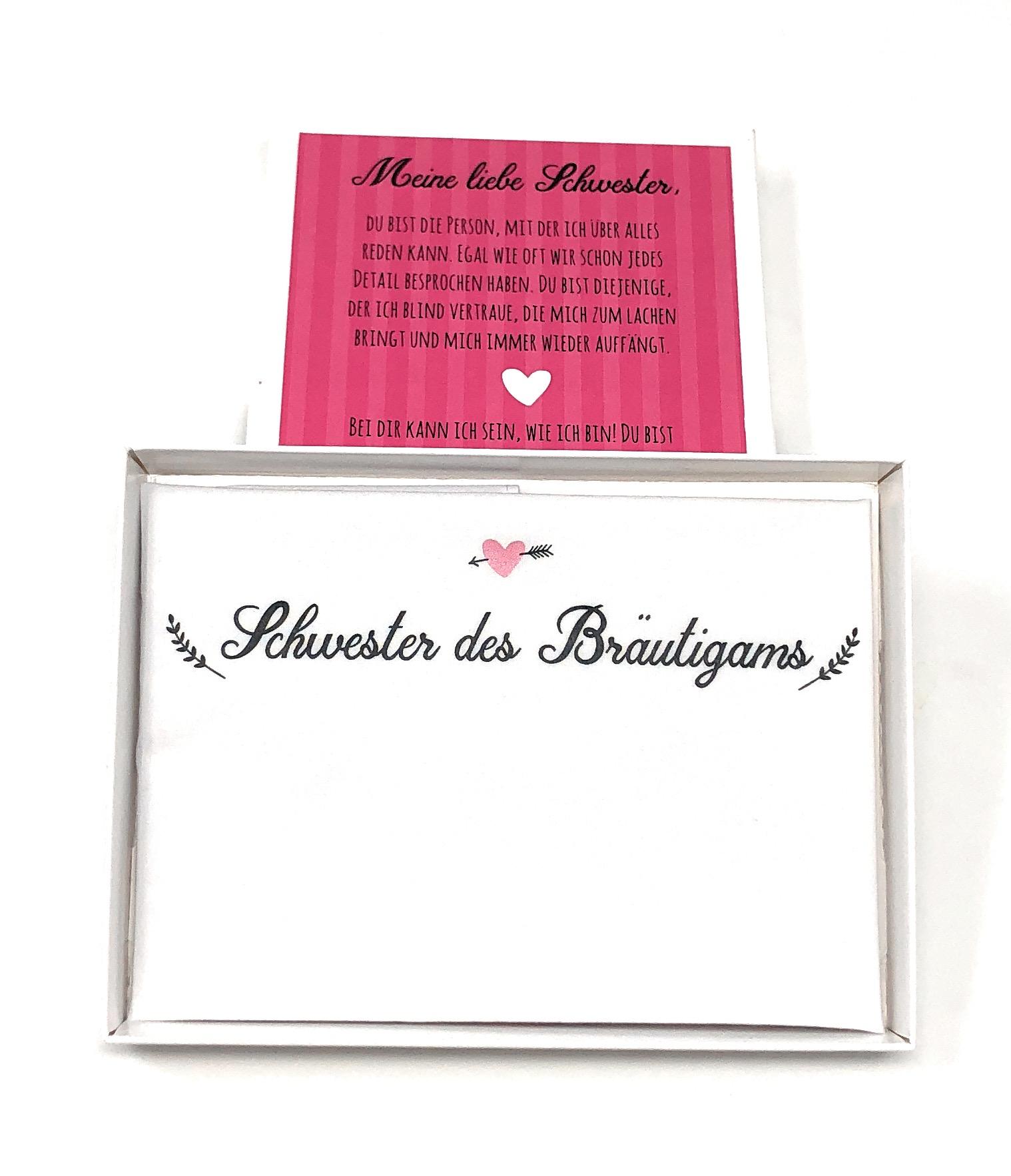 Geschenk Schwester Des Brautigams Taschentuch Fur Freudentranen Stofftaschentuch Geschenk Zur Hochzeit Schwesterherz Geschwister Stoff Weddingtree