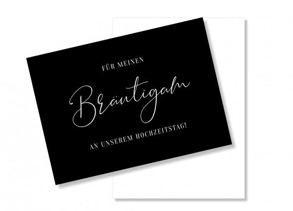 Postkarte für meinen Bräutigam am Hochzeitstag