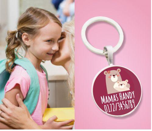 Kinder Anhänger Notfallnummer Mamabär