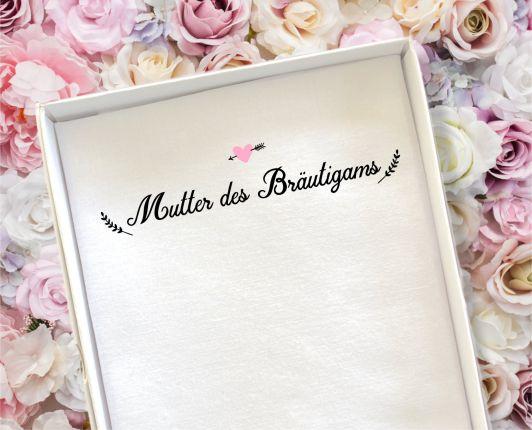 """Hochzeit Taschentuch für Freudentränen """"Mutter Bräutigam"""" Stofftaschentuch"""