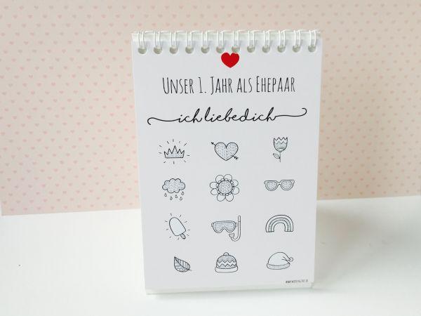 Geschenk zur Hochzeit - Gutschein Kalender
