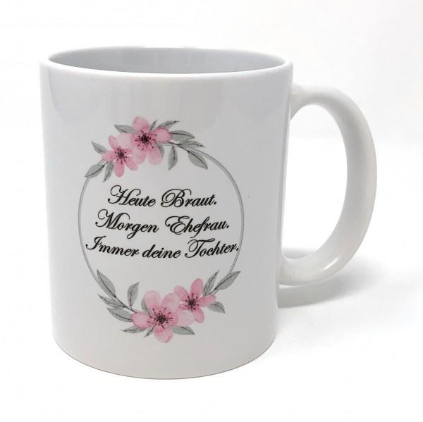 Geschenk Brautmutter Tasse - Ich hab dich lieb`!