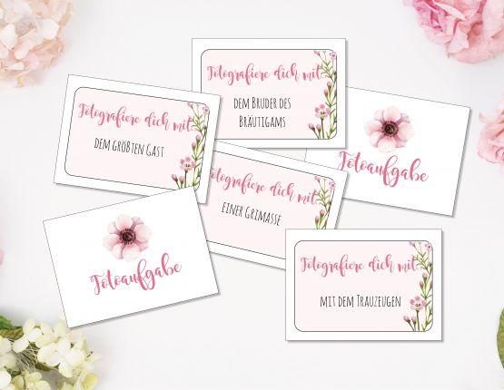Hochzeitsspiel 60 Fotoaufträge | Fotospiel PDF zum download
