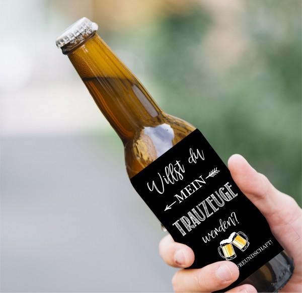 Flaschenetikett Trauzeuge, Geschenk Trauzeuge, Willst du mein Trauzeuge sein?