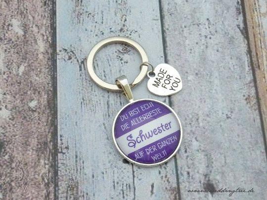 Beste Schwester Anhänger, Schlüsselanhänger, Geschenk Schwester, Schlüsselanhänger, Geburtstag, Baby