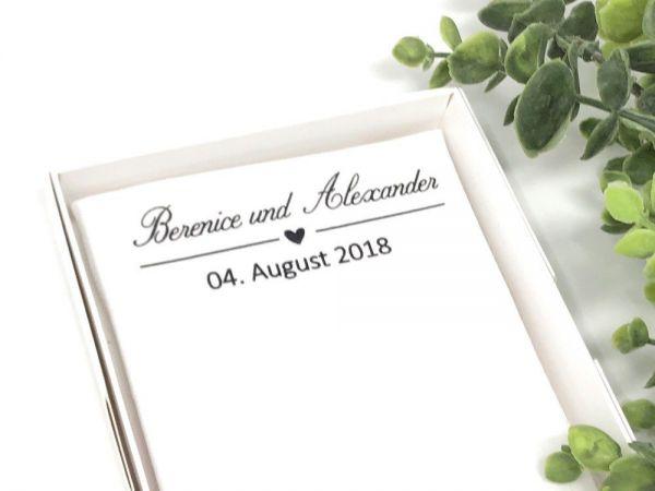 """Hochzeit Taschentuch für Freudentränen """"Personalisiert"""" Stofftaschentuch"""
