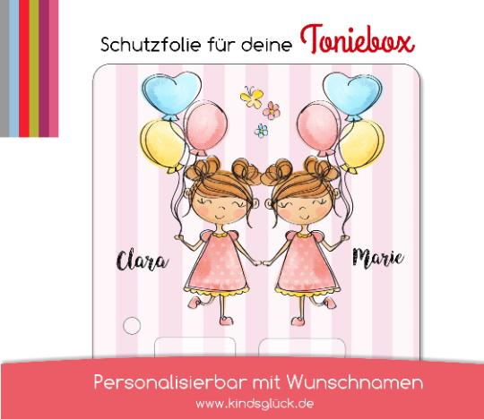 Schutzfolie passend für Toniebox, Zwillinge, Schwester