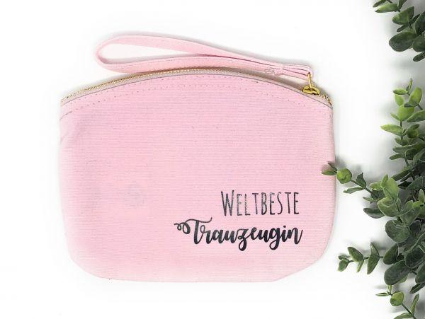Geschenk Trauzeugin zur Hochzeit - kleine Kosmetiktasche