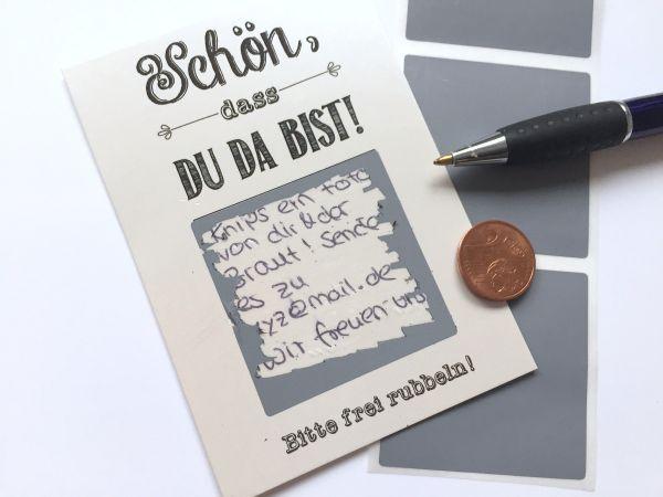 Gastgeschenk Hochzeit - Rubbelkarten Perlmut