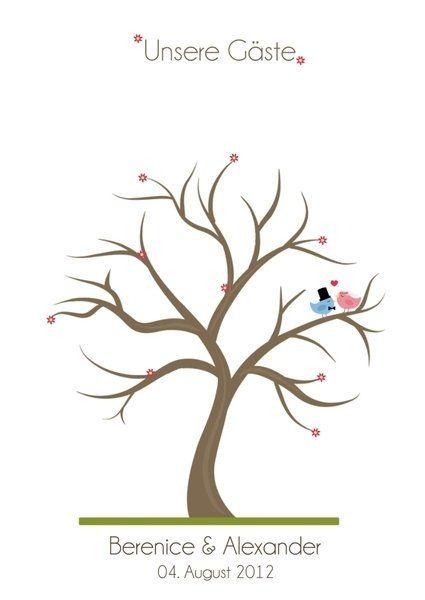 Wedding Tree zur Hochzeit