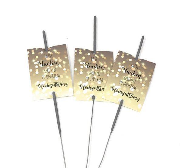 50 Karten für Wunderkerzen Hochzeitstanz
