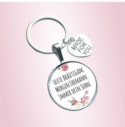 Schlüsselanhänger für die Mama des Bräutigams