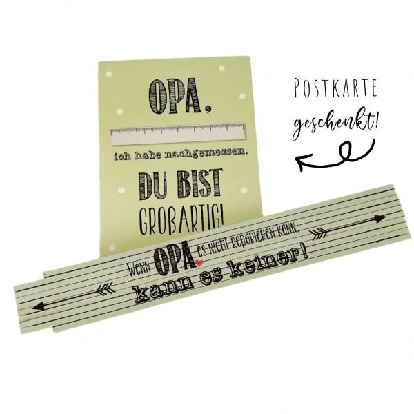 """Zollstock für den besten Opa - """"Wenn Opa es nicht reparieren kann, kann es keiner!"""""""