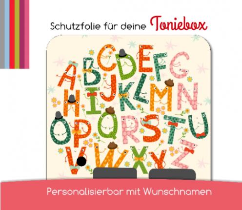Schutzfolie passend für Toniebox, Alphabet