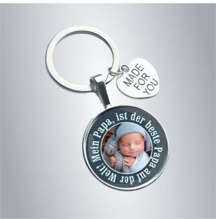 Schlüsselanhänger für den Papa - personalisiert mit Foto