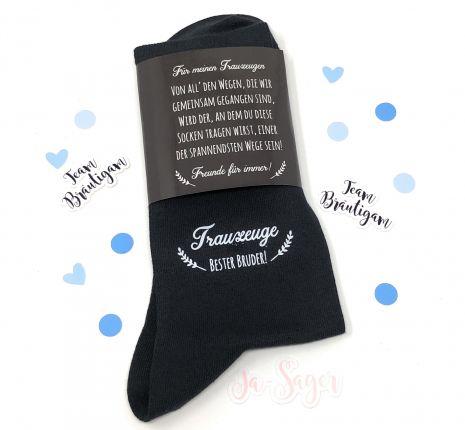 """Hochzeit Geschenk Socken """"Gegen kalte Füße"""" für den Trauzeugen / Bruder"""