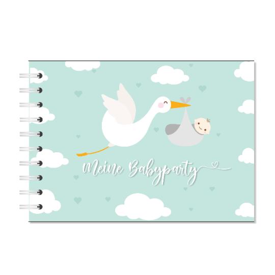 """Gästebuch zur Babyparty """"Meine Babyparty"""" Storch"""