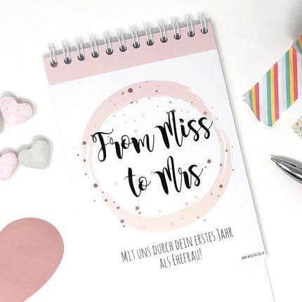 Rubbelkalender mit persönlicher Botschaft - Geschenk JGA Braut