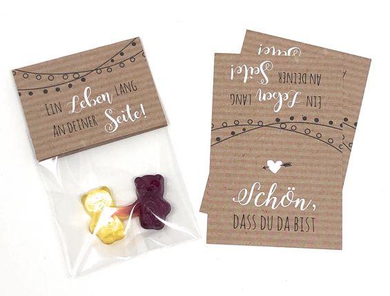 Gastgeschenk zur Hochzeit, Ein Leben lang an deiner Seite, Kraftpapier