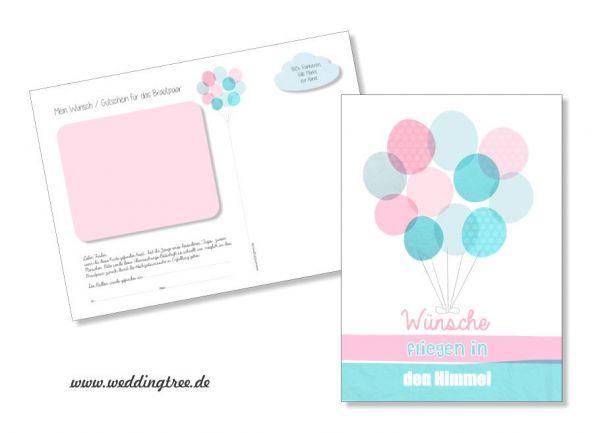 50 Ballonflugkarten zur Hochzeit Ballons