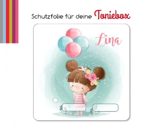 Schutzfolie passend für Toniebox, Mädchen Luftballon