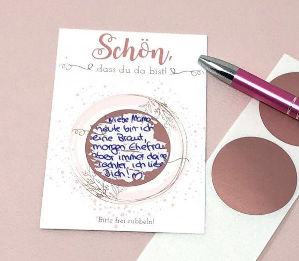 Gastgeschenk Hochzeit - Rubbelkarten Ring