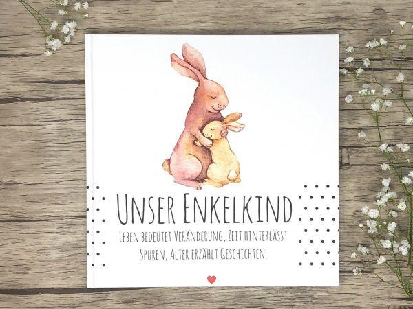 Babytagebuch, Unser Enkelkind, Erinnerungsalbum für Großeltern Geschenk zur Geburt