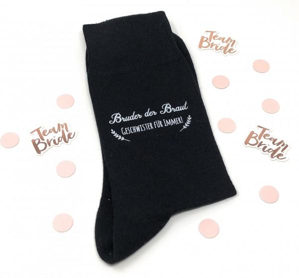 """Hochzeit Geschenk Socken """"Gegen kalte Füße"""" für den Bruder der Braut"""