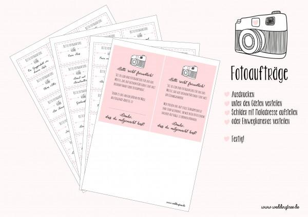 Hochzeitsspiel 54 Fotoaufträge | Fotospiel PDF zum download