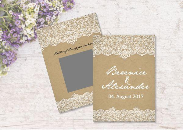 Gastgeschenk Hochzeit Rubbelkarten PERSONALISIERT