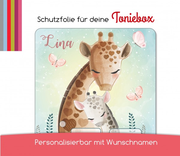 Schutzfolie passend für Toniebox, Giraffe