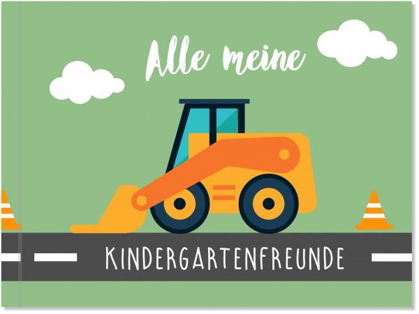 Freundebuch Kindergarten Bauarbeiter, Erinnerungsbuch Kindergarten