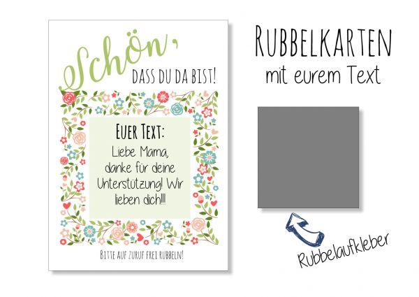 Gastgeschenk Hochzeit - Rubbelkarten Boho