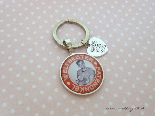 Geschenk Patenonkel, personalisierter Schlüsselanhänger, Geschenk Freund, Schlüsselanhänger Geschenk