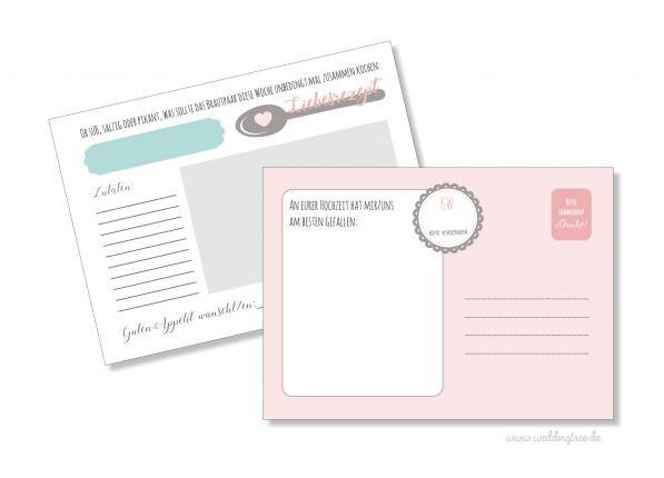 52 Karten Hochzeitsspiel | Rezeptkarten zur Hochzeit