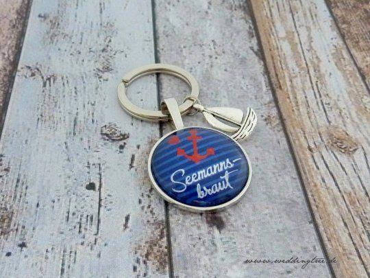 Geschenk Braut, individueller Schlüsselanhänger, Schlüsselanhänger Geschenk zur Hochzeit, Anker, Mar