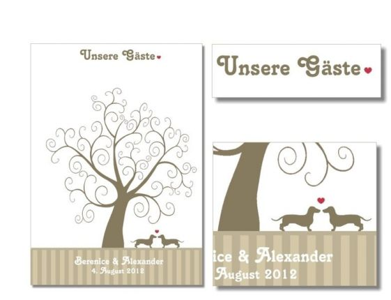 "Wedding Tree ""Dackel"" wedding tree (PDF)"