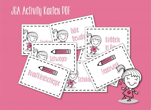 JGA Junggesellinnenabschied Activity Karten (PDF)