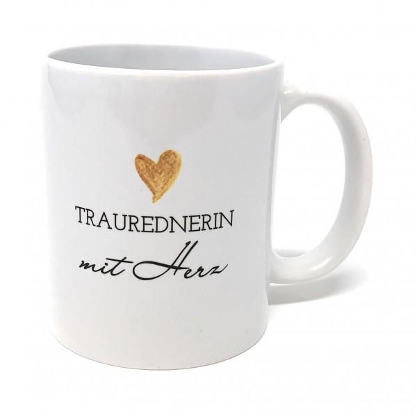 Geschenk Traurednerin Tasse - Traurednerin mit Herz