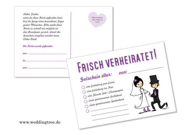 50 Ballonflugkarten zur Hochzeit Frisch Verheiratet