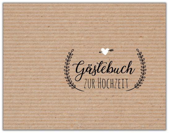 GÄSTEBUCH ZUR HOCHZEIT | KRAFTPAPIER BEST SELLER