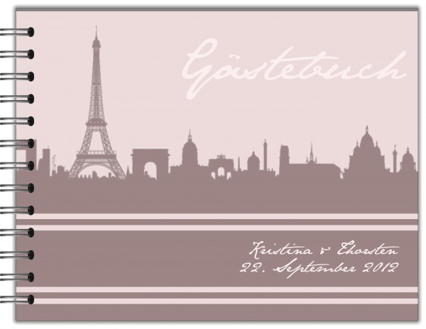 GÄSTEBUCH ZUR HOCHZEIT | RINGBUCH SKYLINE PARIS